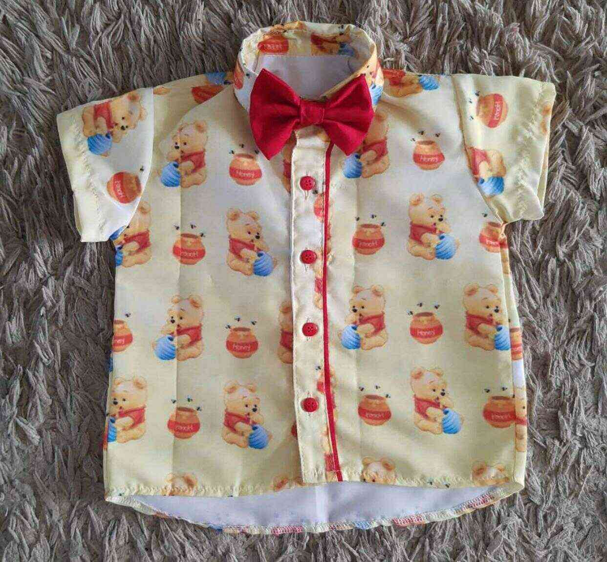 Camisa Ursinho Pooh Amarela Infantil