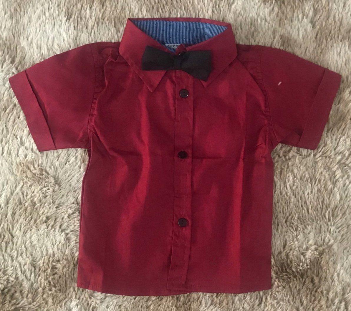 Camisa Vermelha com Gravata Borboleta