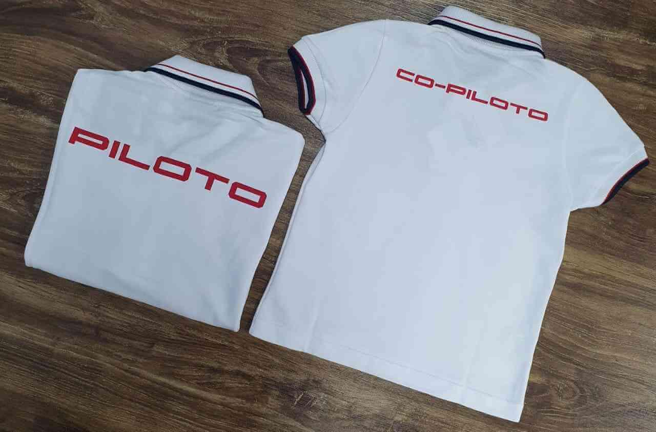 Camisa Polo Branca Camaro Pai e Filho (a)