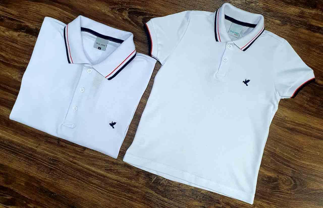 Camisas Polo Branca Infantil
