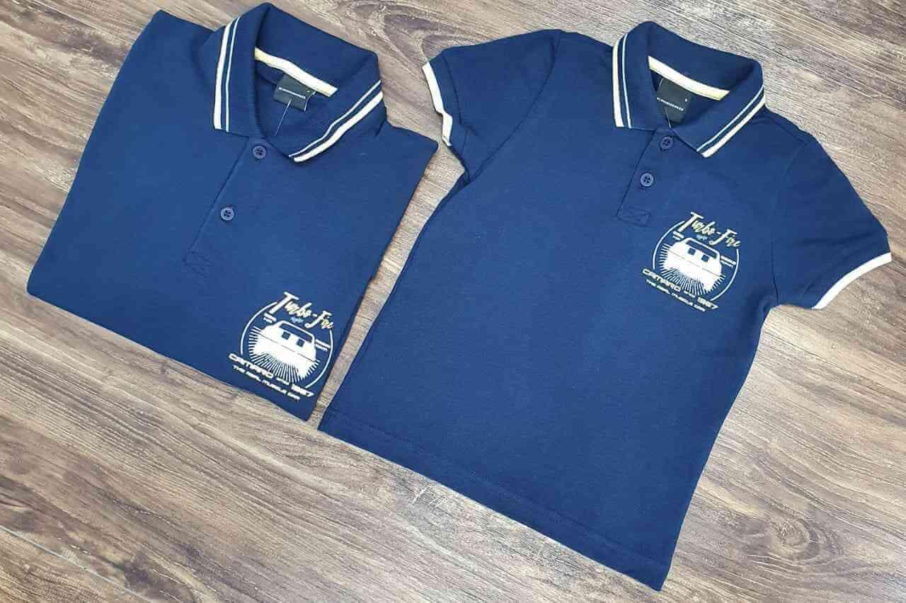 Camisas Polo Azul Camaro Pai e Filho (a)