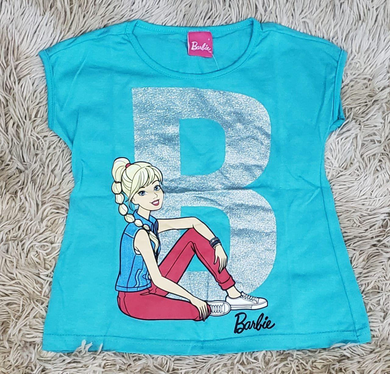 Camiseta Barbie Verde Água