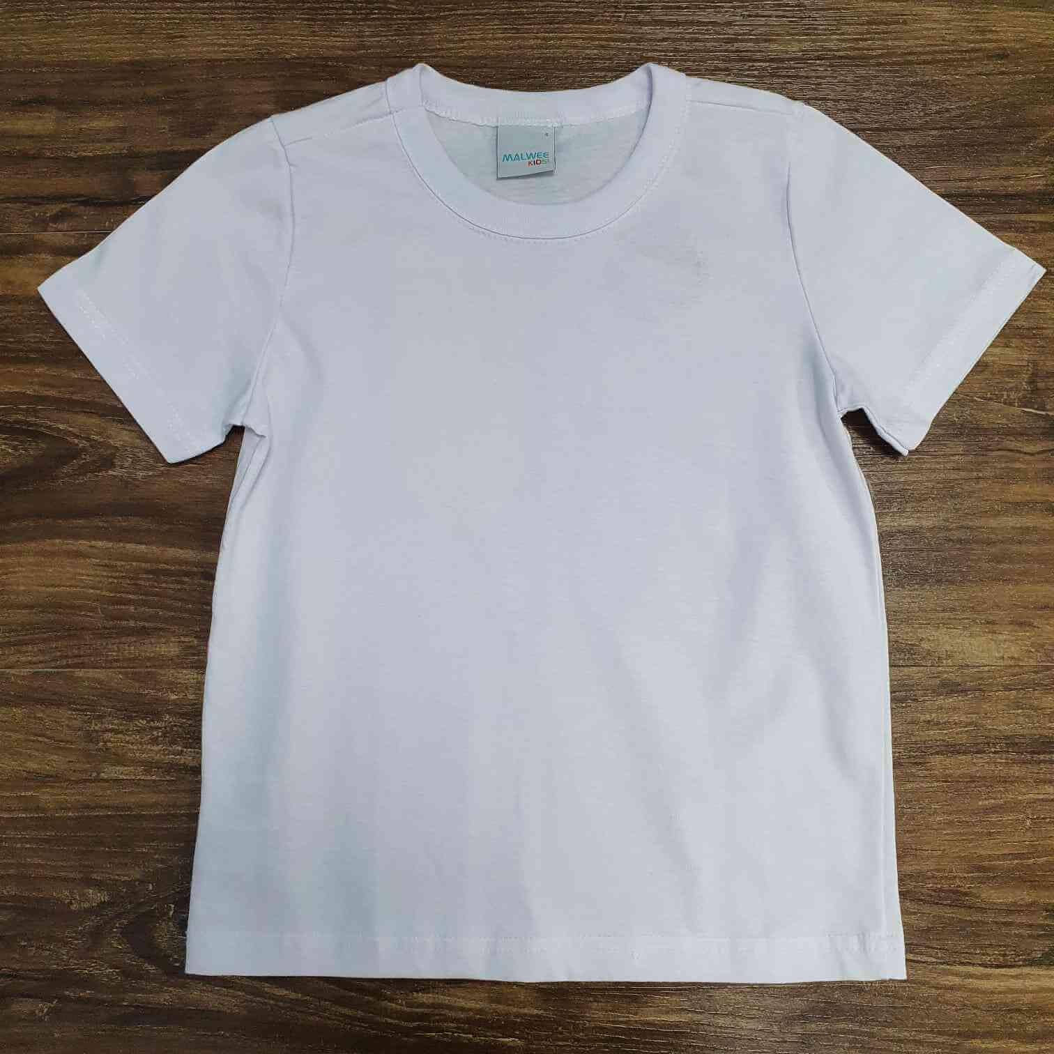 Camiseta Básica Branca Infantil