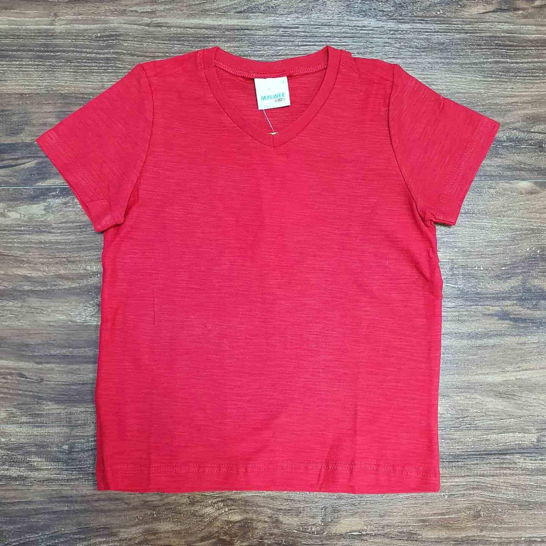 Camiseta Básica Vermelha Infantil