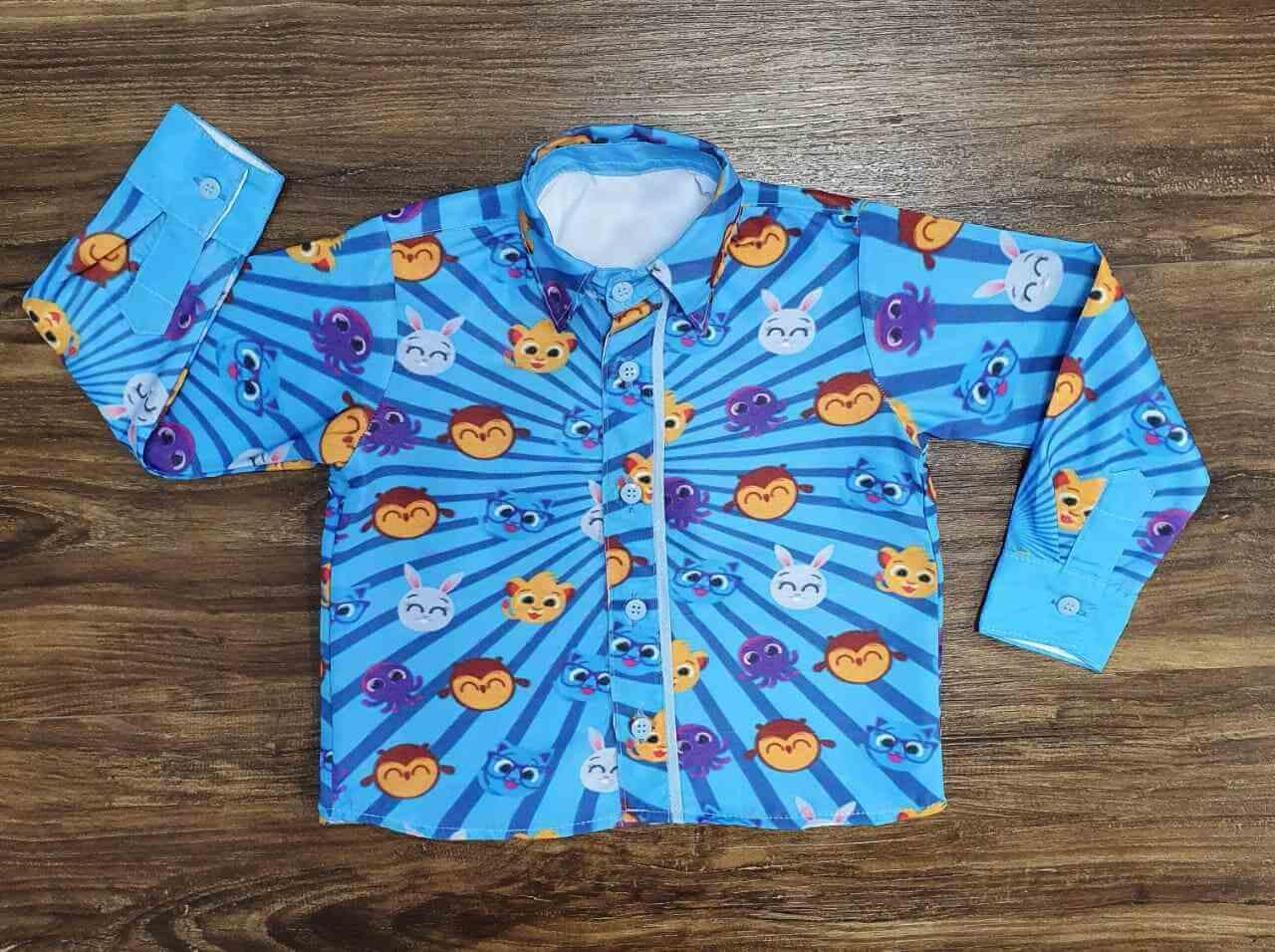 Camisa Bolofofos Manga Longa Infantil