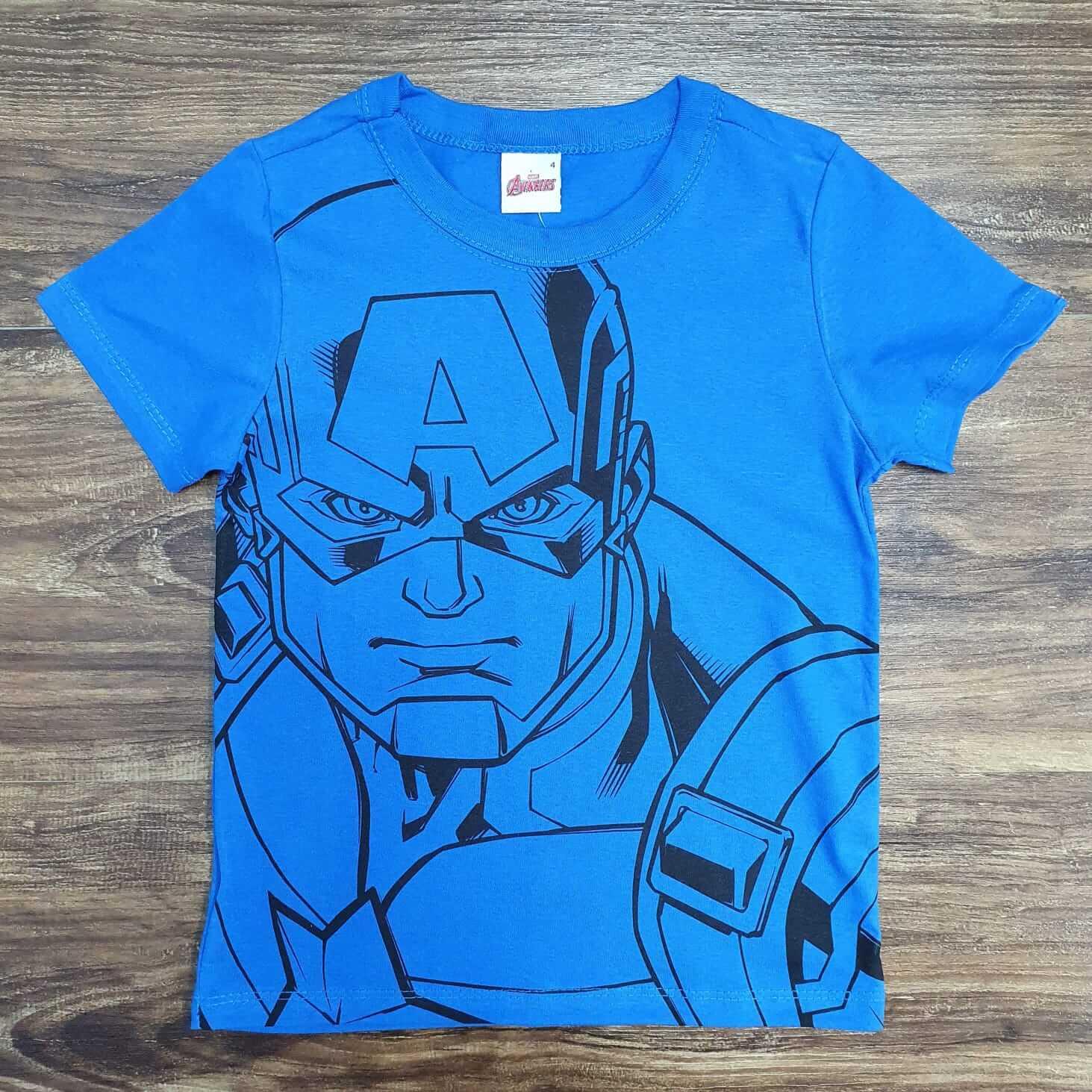 Camiseta Capitão América Azul Infantil