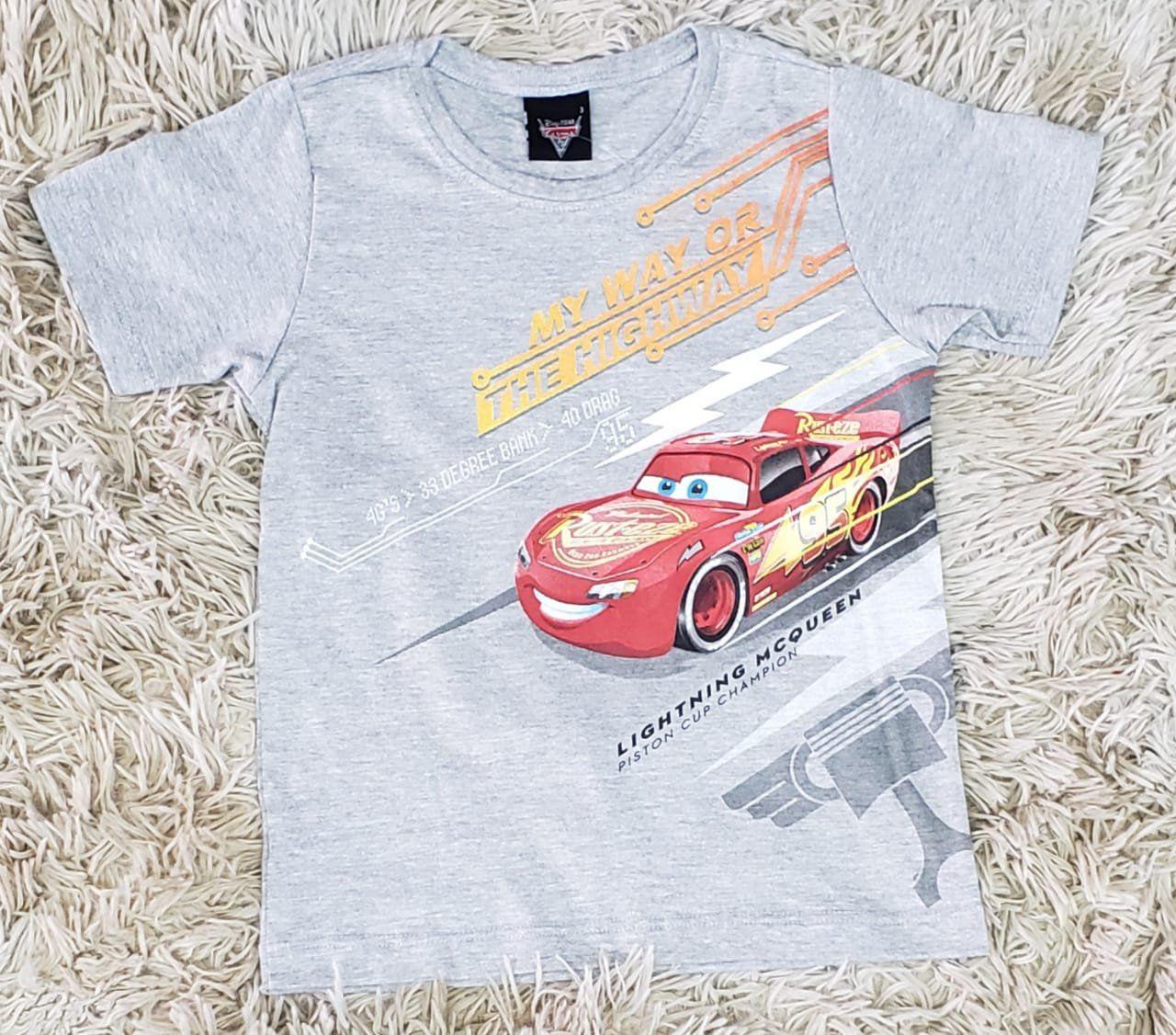 Camiseta Carros Cinza