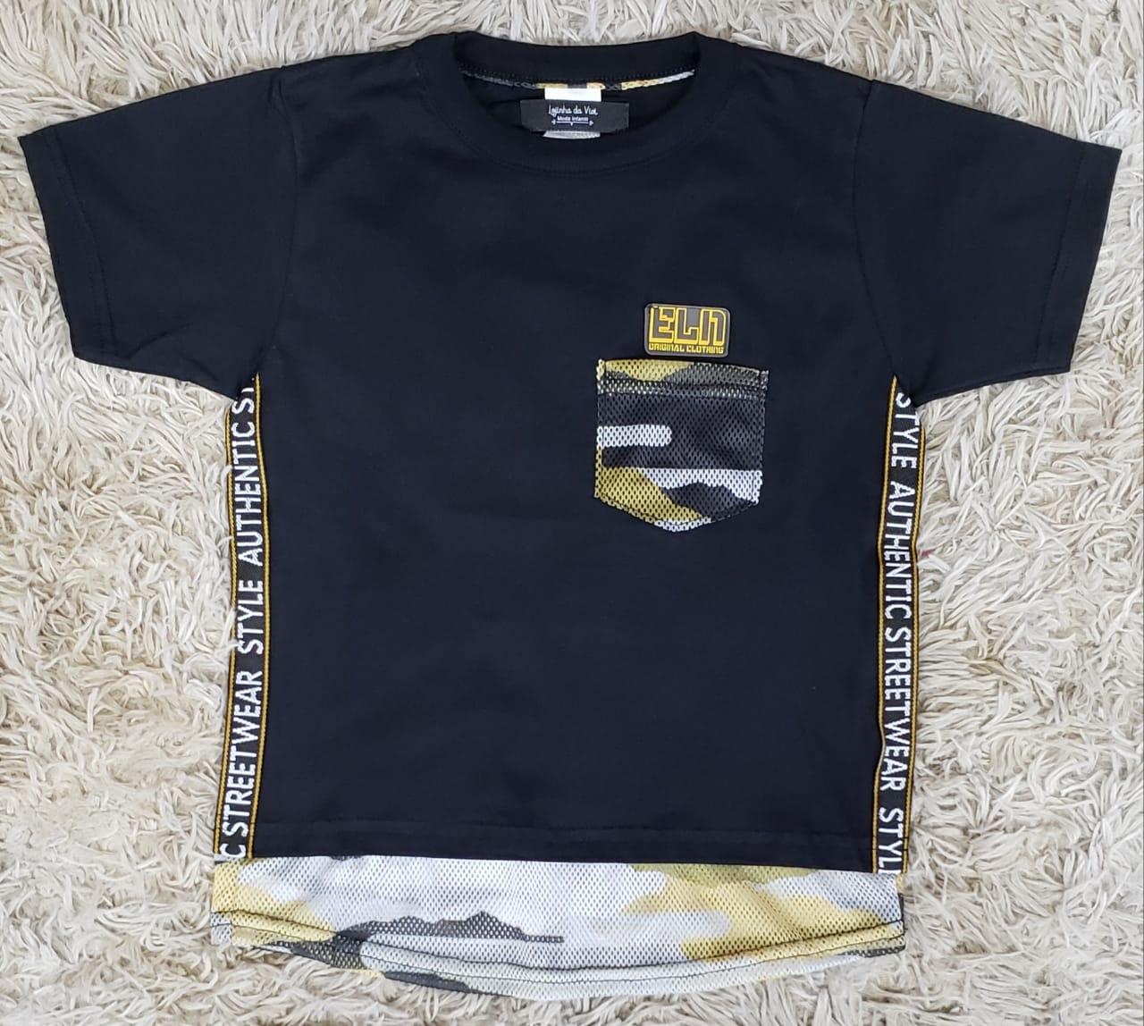 Camiseta Long com Bolso Authentic Street