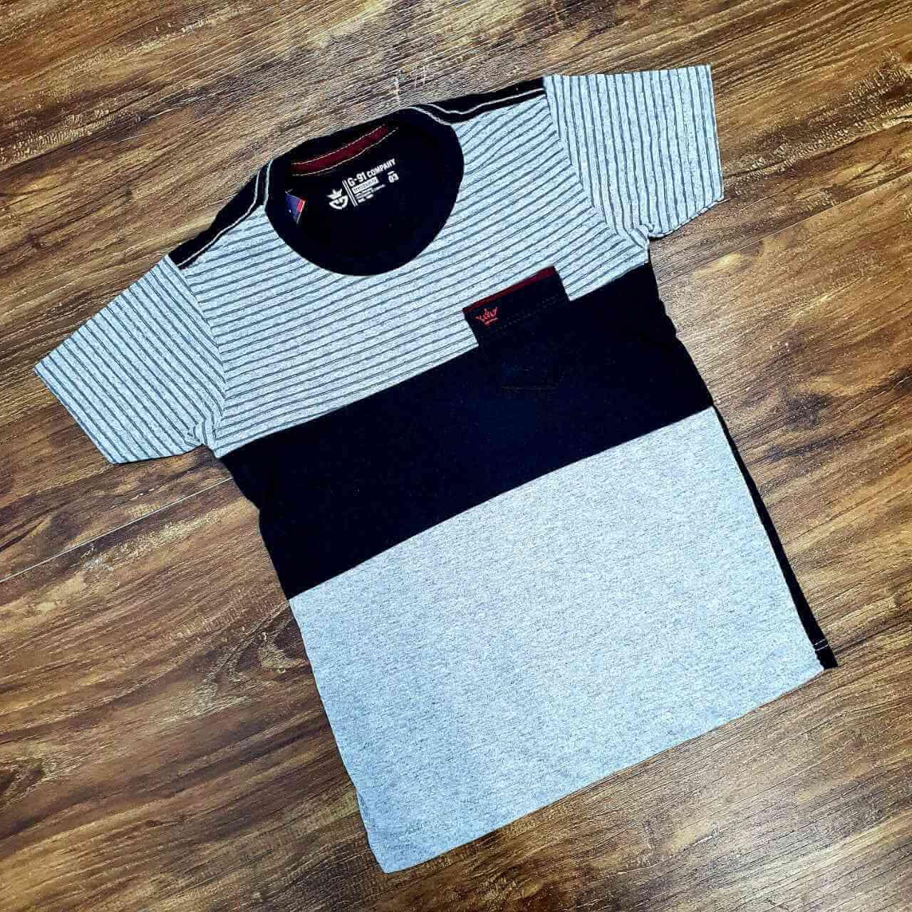 Camiseta com Bolso Infantil