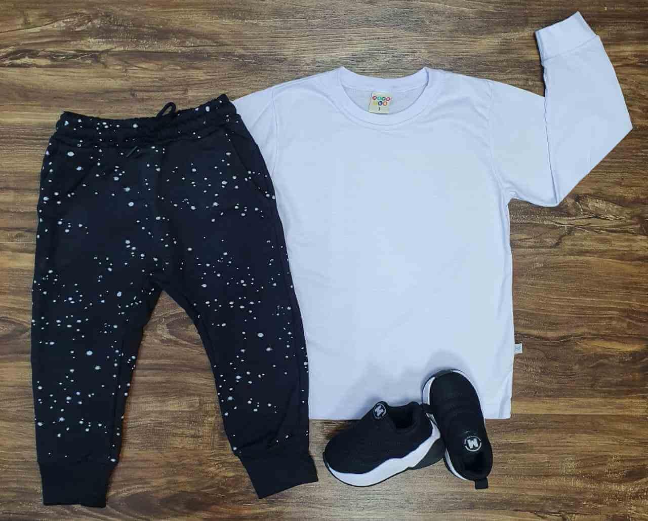 Camiseta com Calça Estelar Infantil