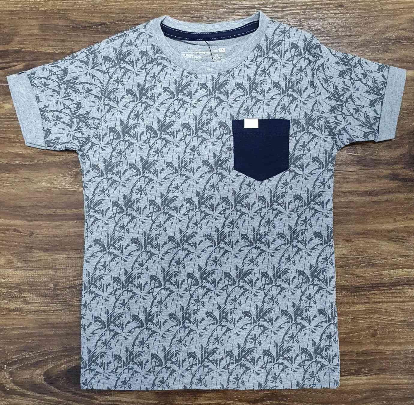 Camiseta Coqueiro Cinza Infantil