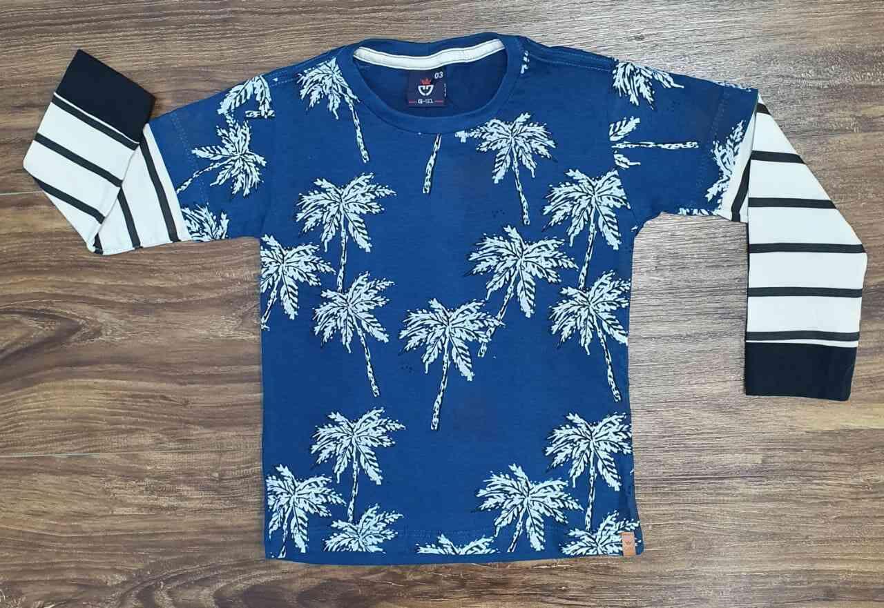 Camiseta Coqueiros Azul Infantil