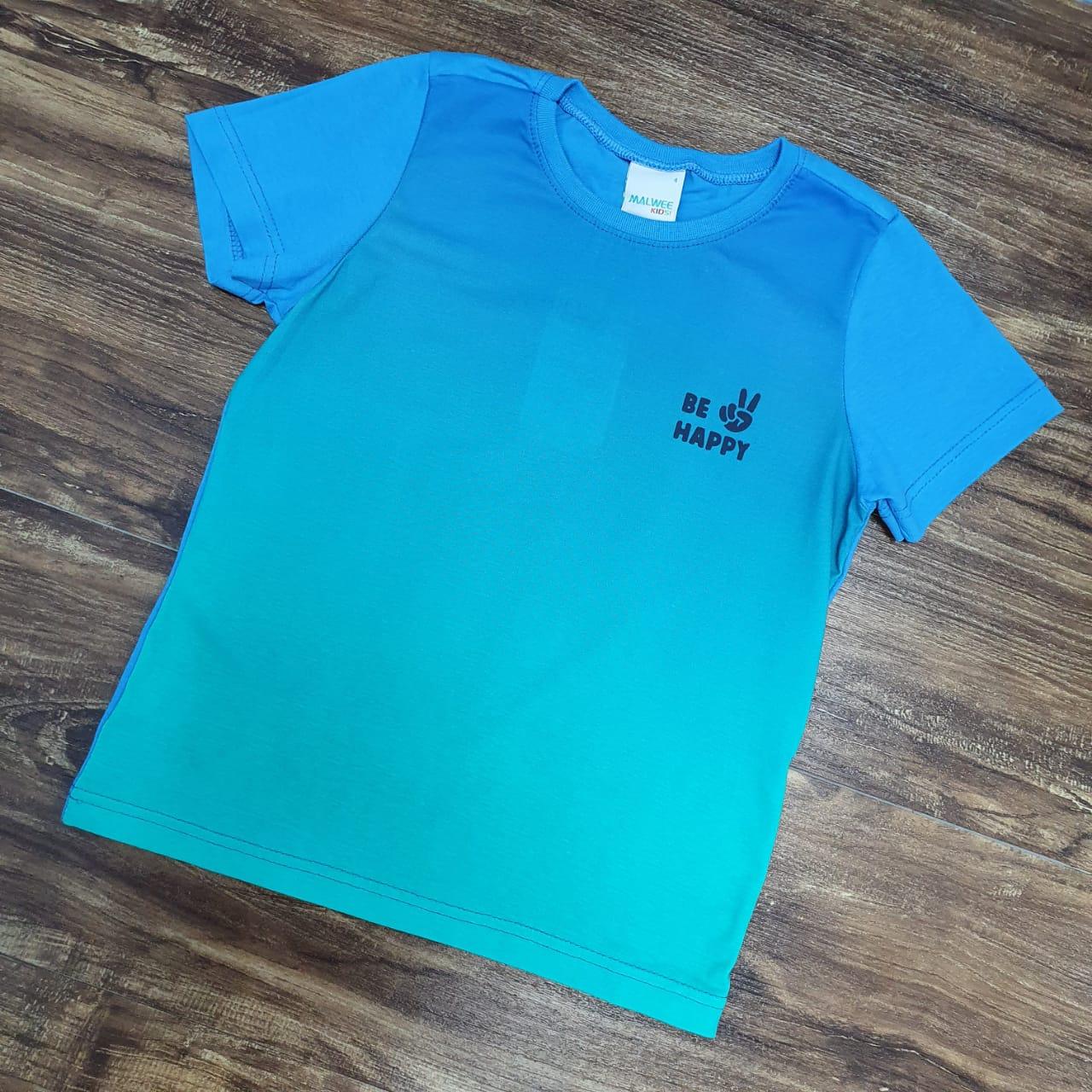 Camiseta Degrade Be Happy Infantil