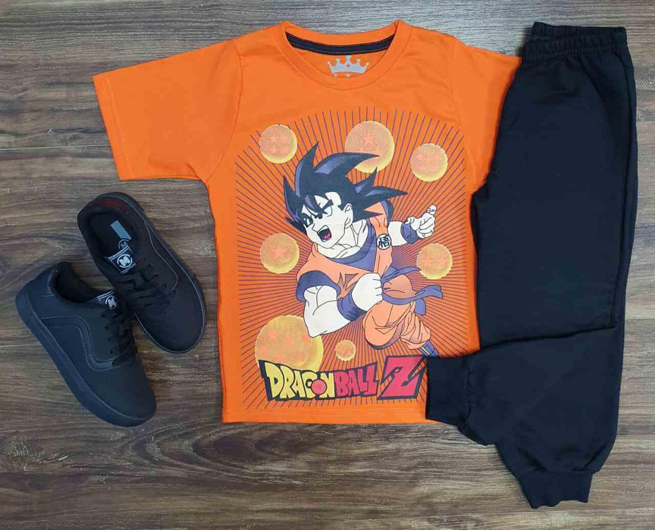 Camiseta Dragon Ball Z com Calça Moletom Infantil