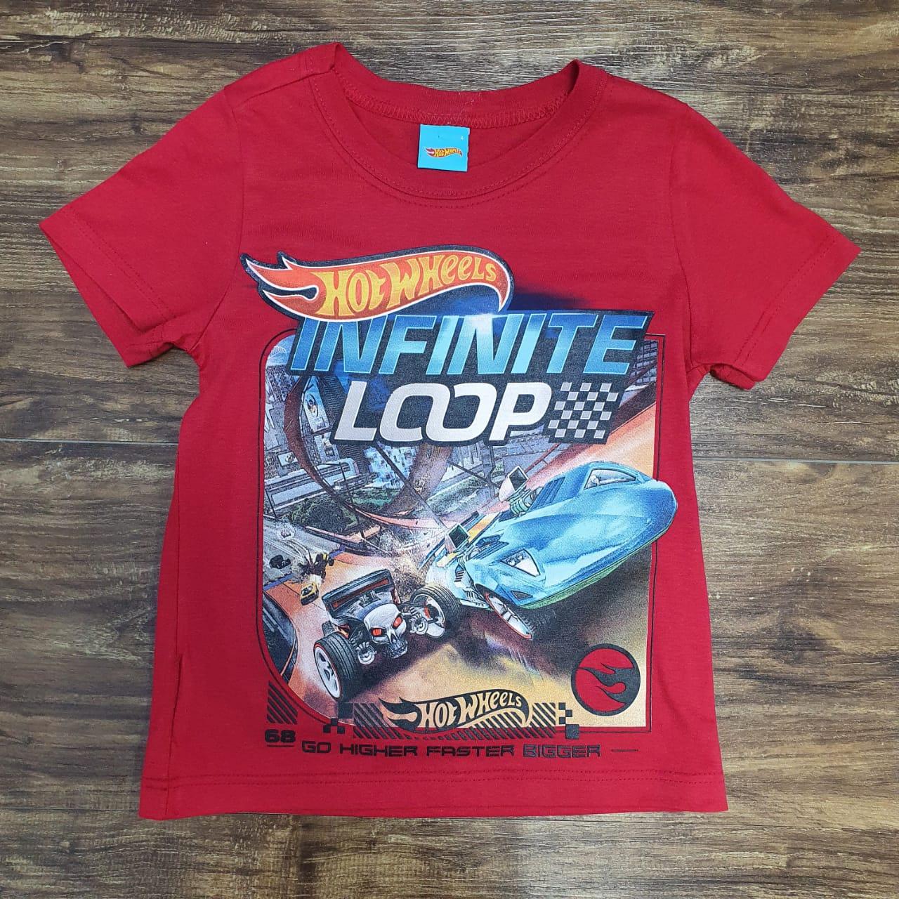 Camiseta Hotweels Infantil