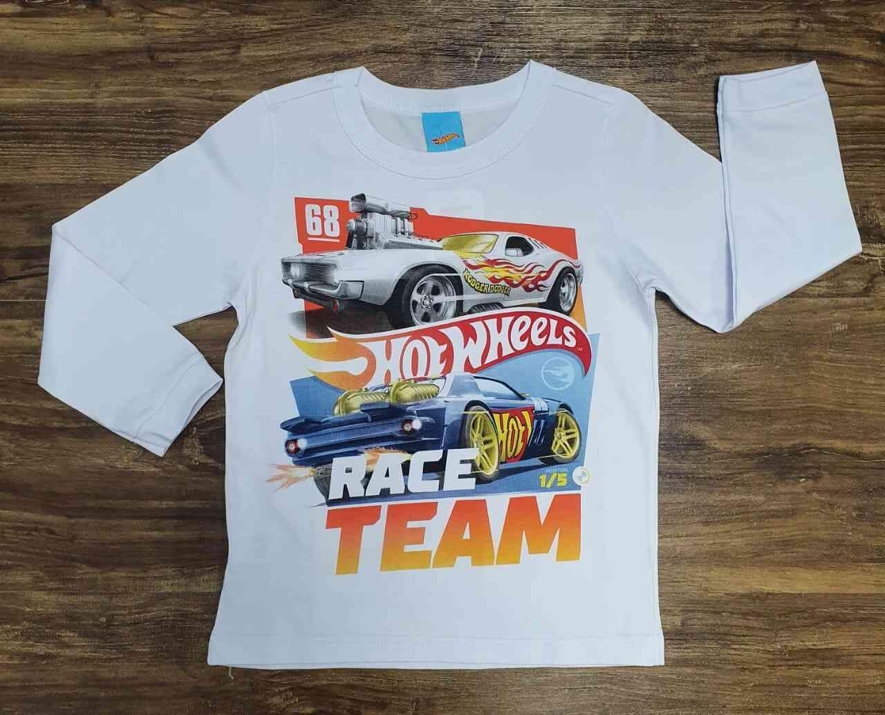 Camiseta Hot Wheels Infantil