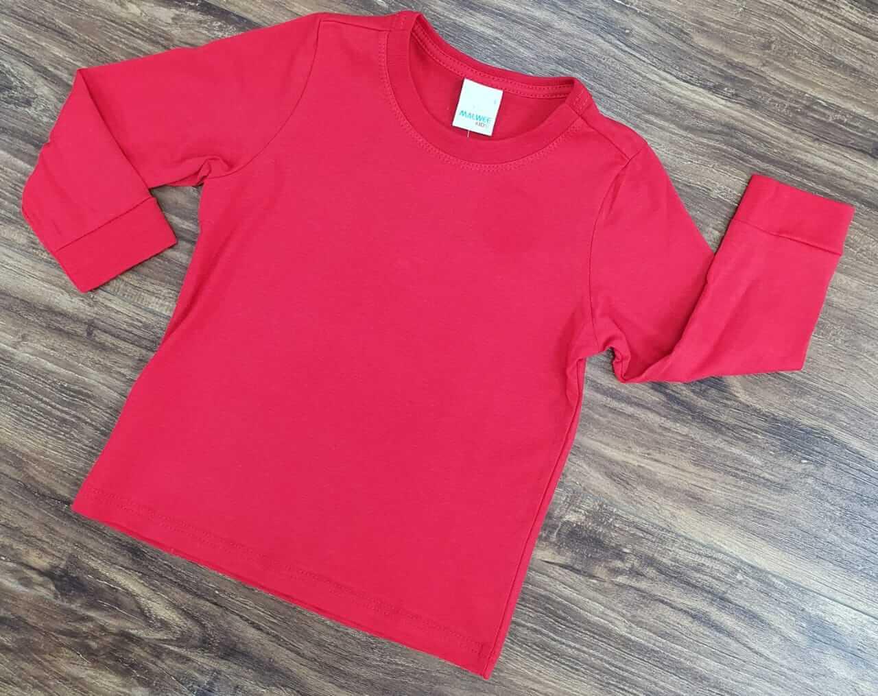 Camiseta Vermelha Manga Longa