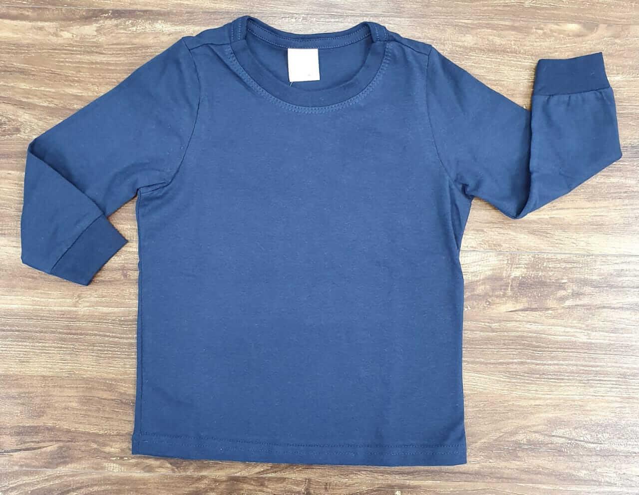 Camiseta Azul Manga Longa