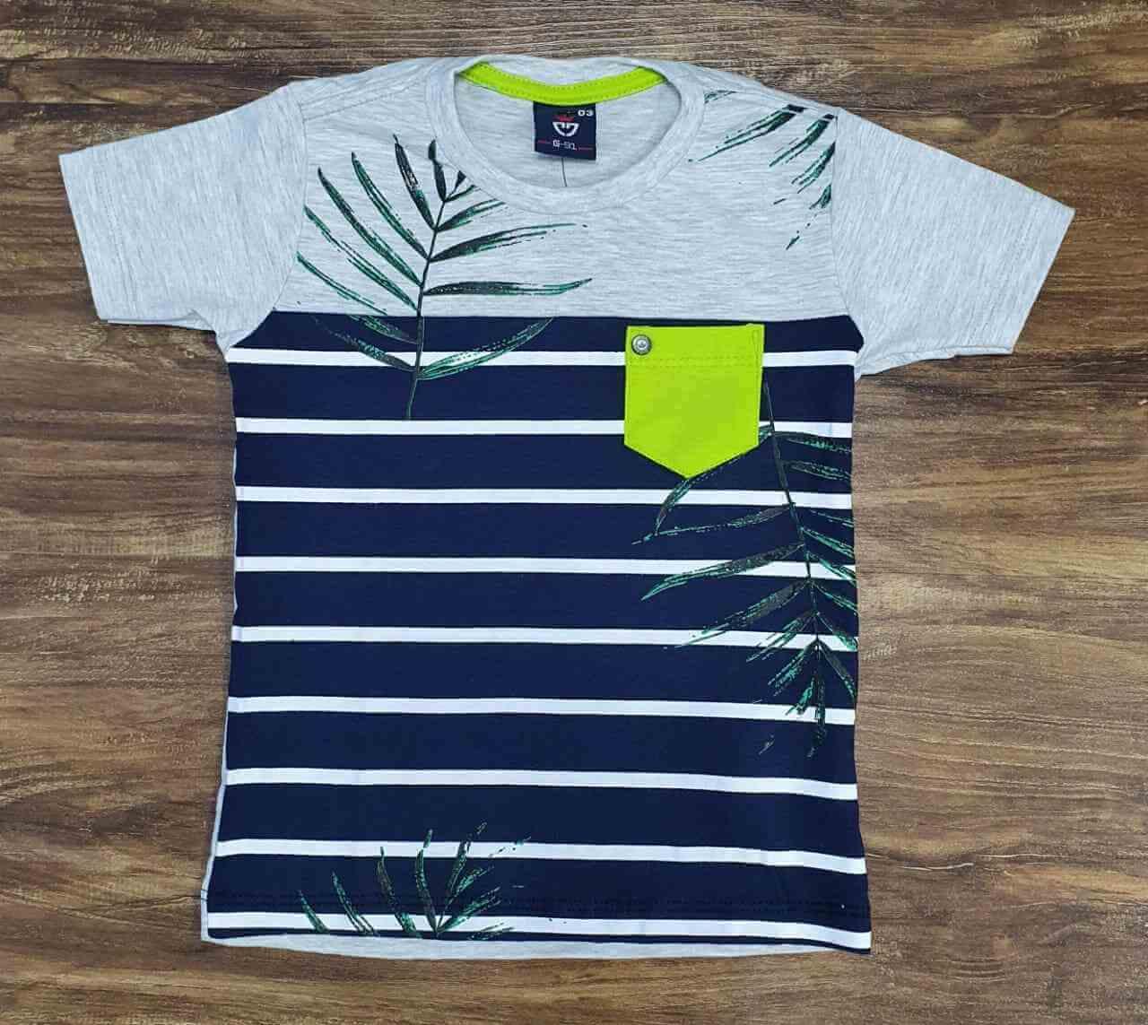 Camiseta Listrada Infantil