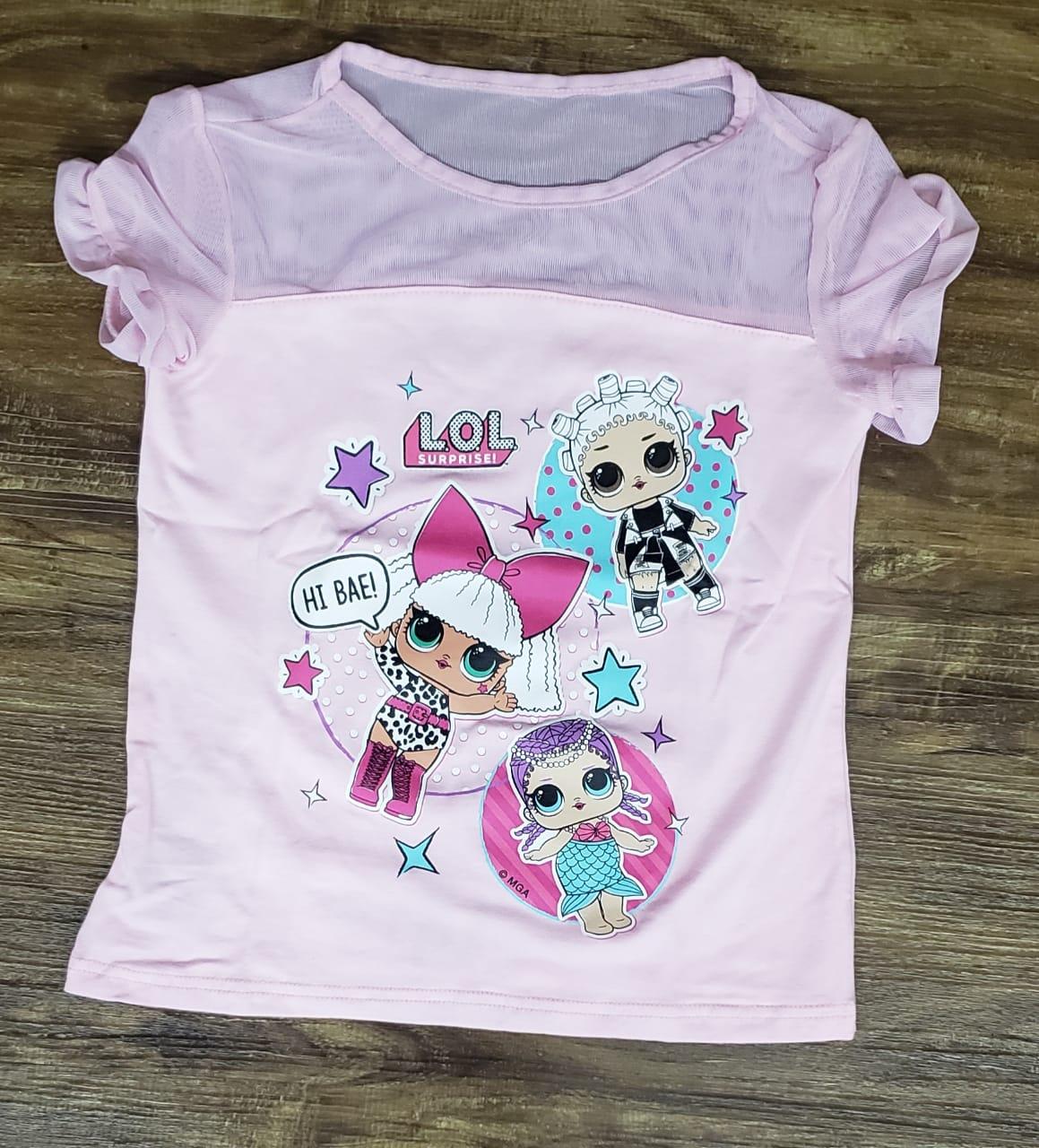 Camiseta LOL Rosa