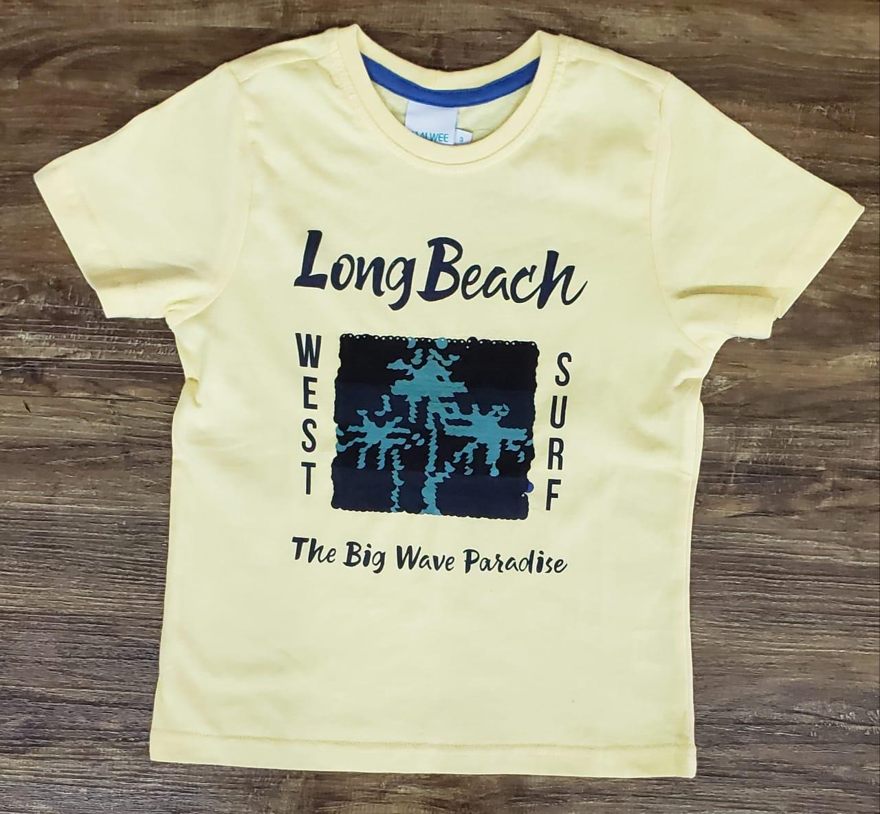 Camiseta Long Beach Paetê Mágico