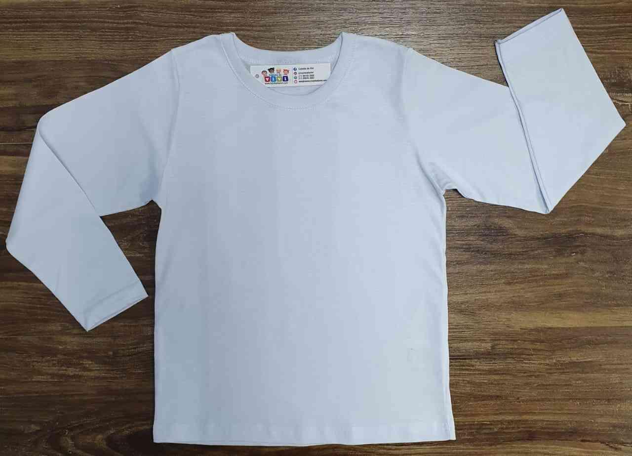 Camiseta Manga Longa Branca Infantil