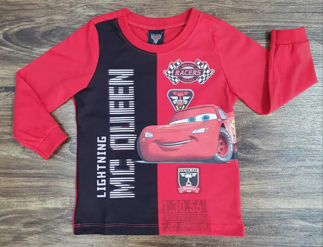 Camiseta Manga Longa Carros Infantil