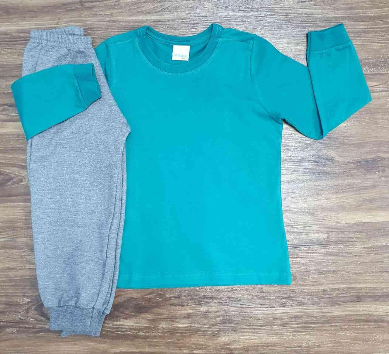 Camiseta Manga Longa com Calça Moletom Infantil
