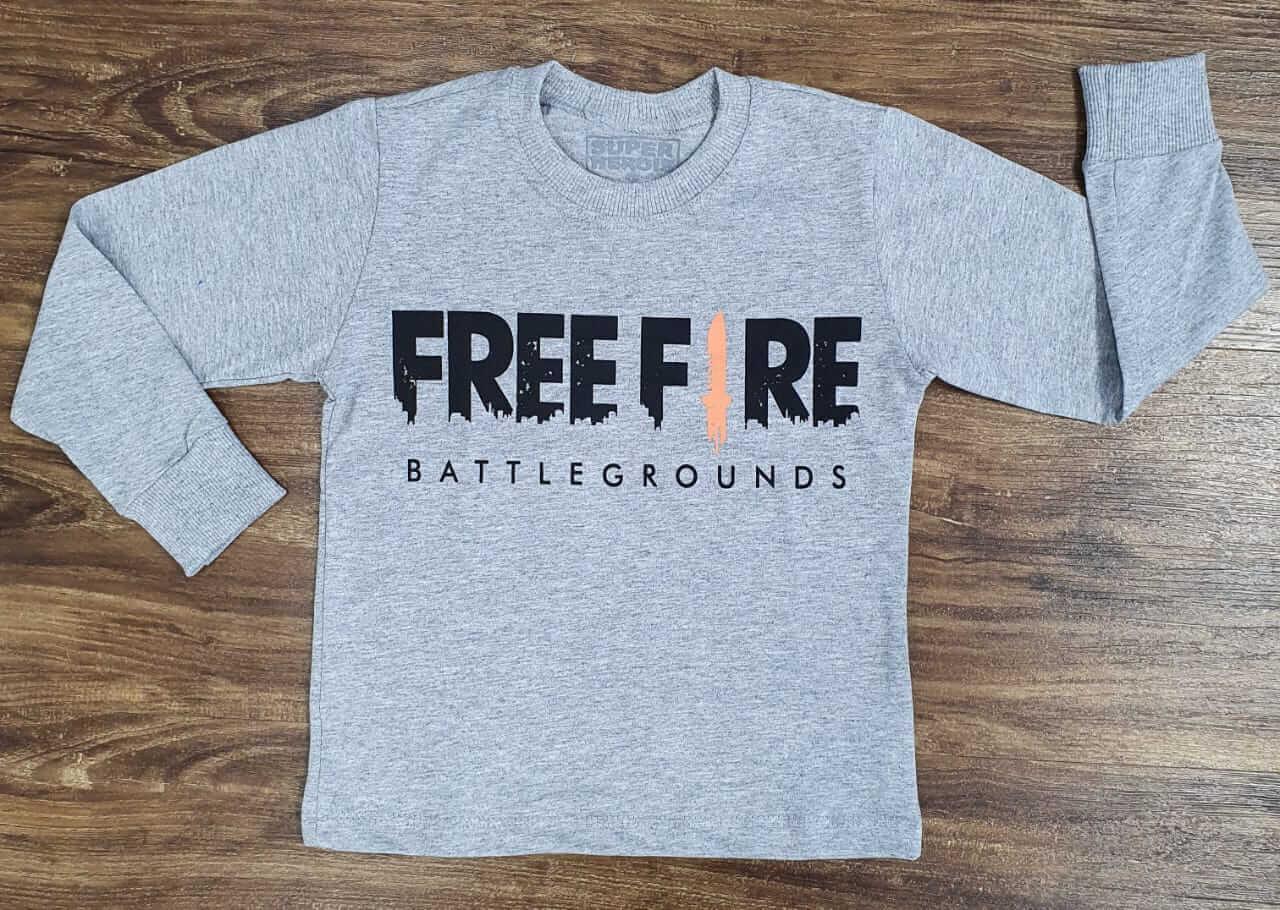 Camiseta Manga Longa Free Fire