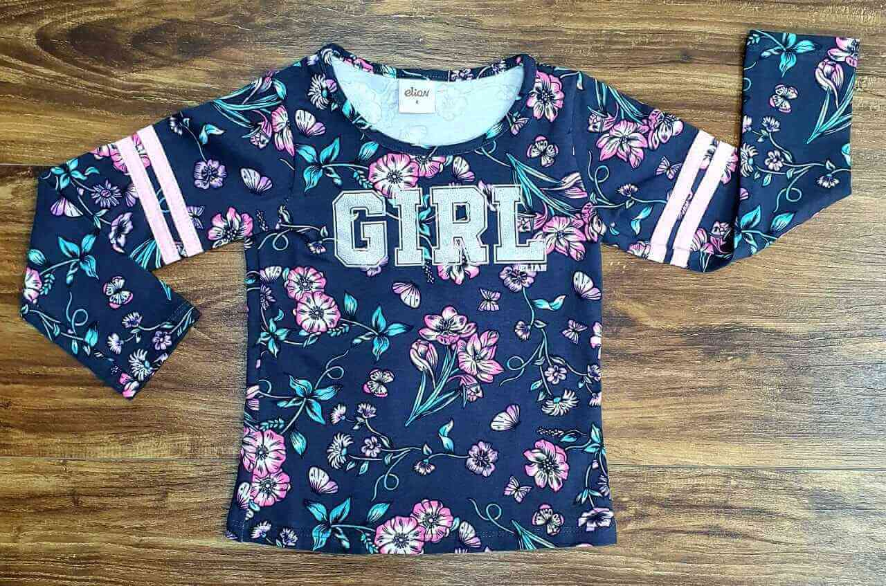 Camiseta Manga Longa Girl