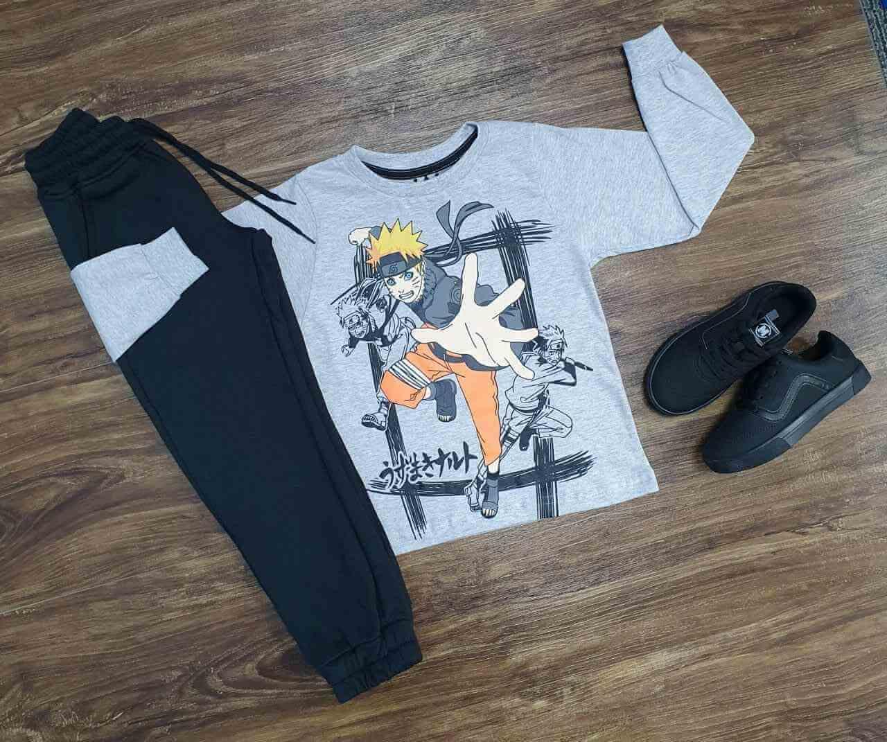 Camiseta Manga Longa Naruto Infantil