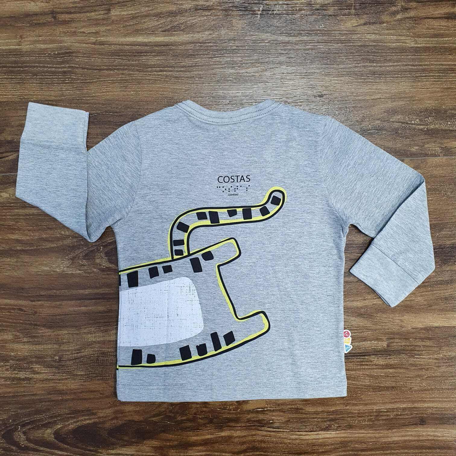 Camiseta Manga Longa Tigres Infantil