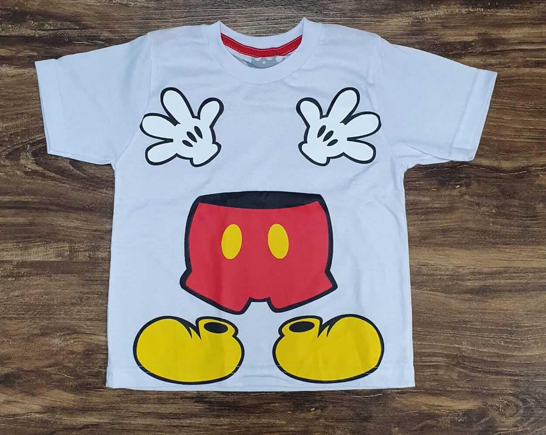 Camiseta Cinza Mickey Infantil