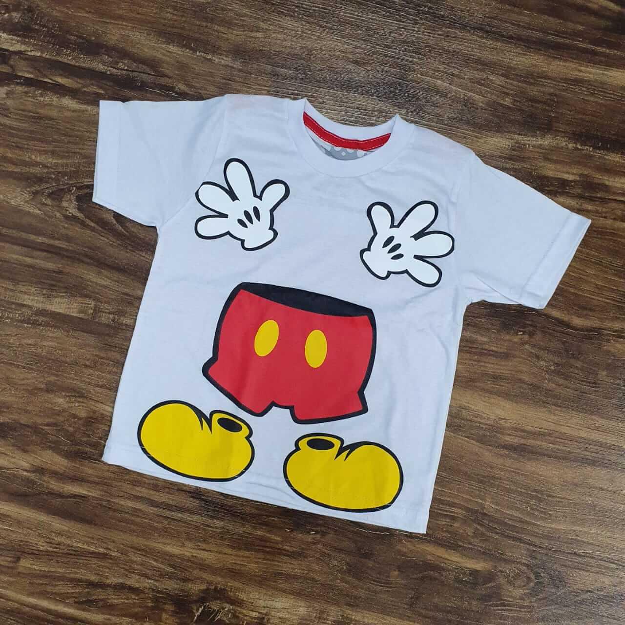 Camiseta Branca Mickey Infantil