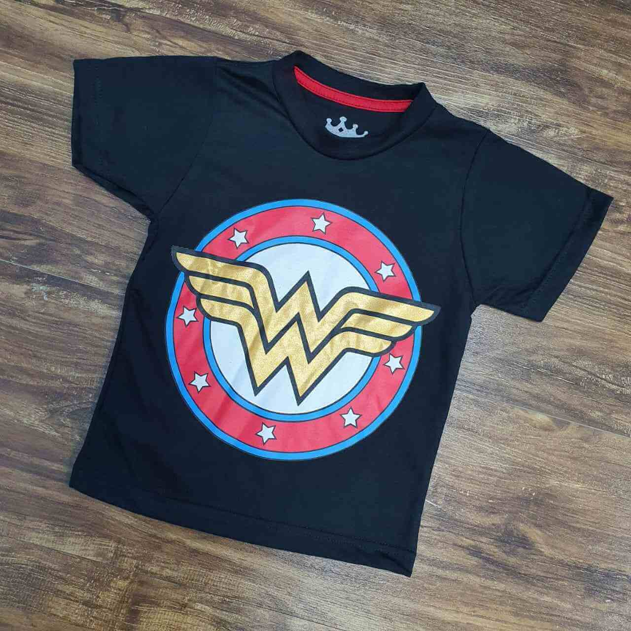 Camiseta Mulher Maravilha Infantil