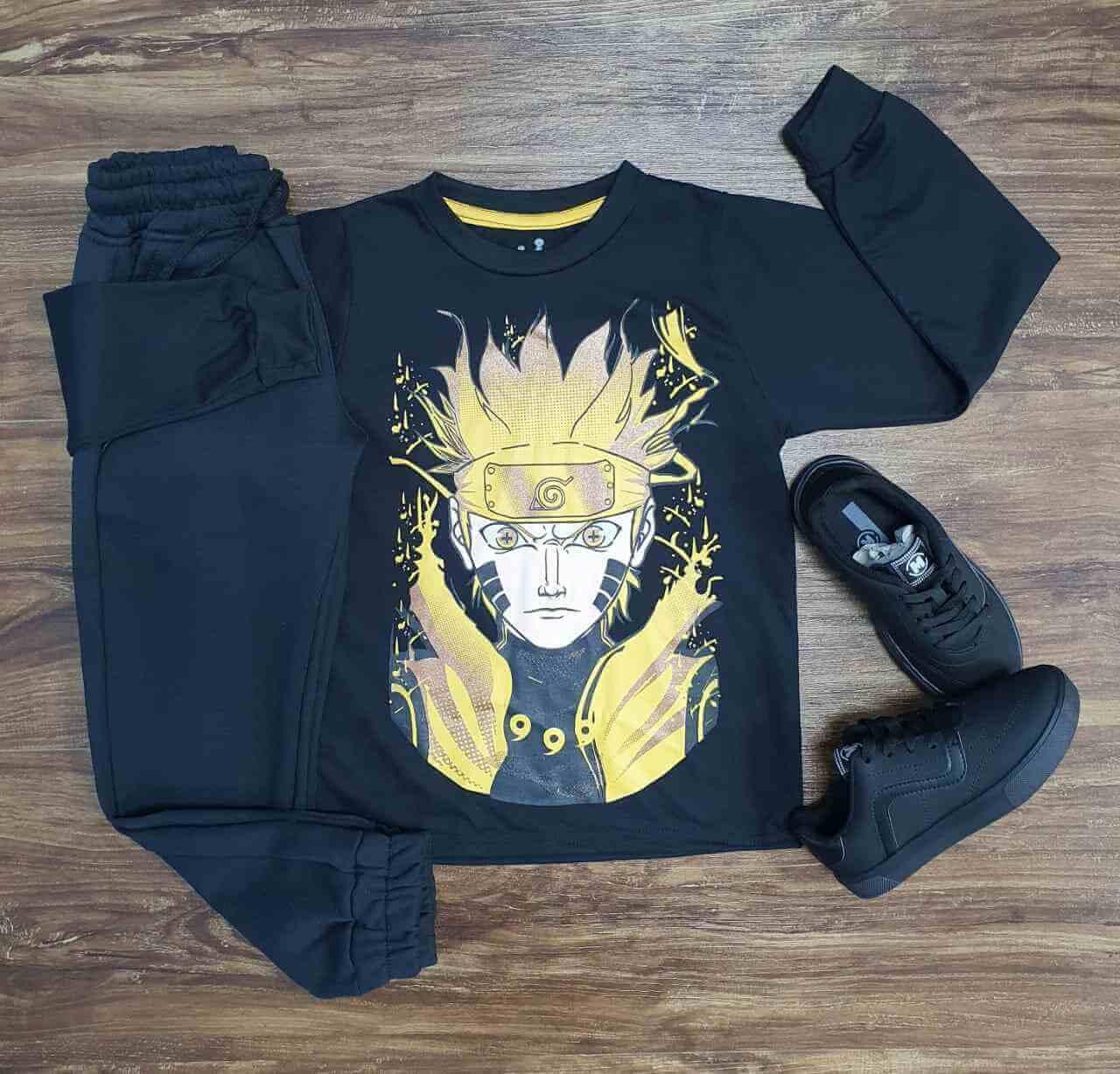 Camiseta Naruto Manga Longa com Calça Infantil
