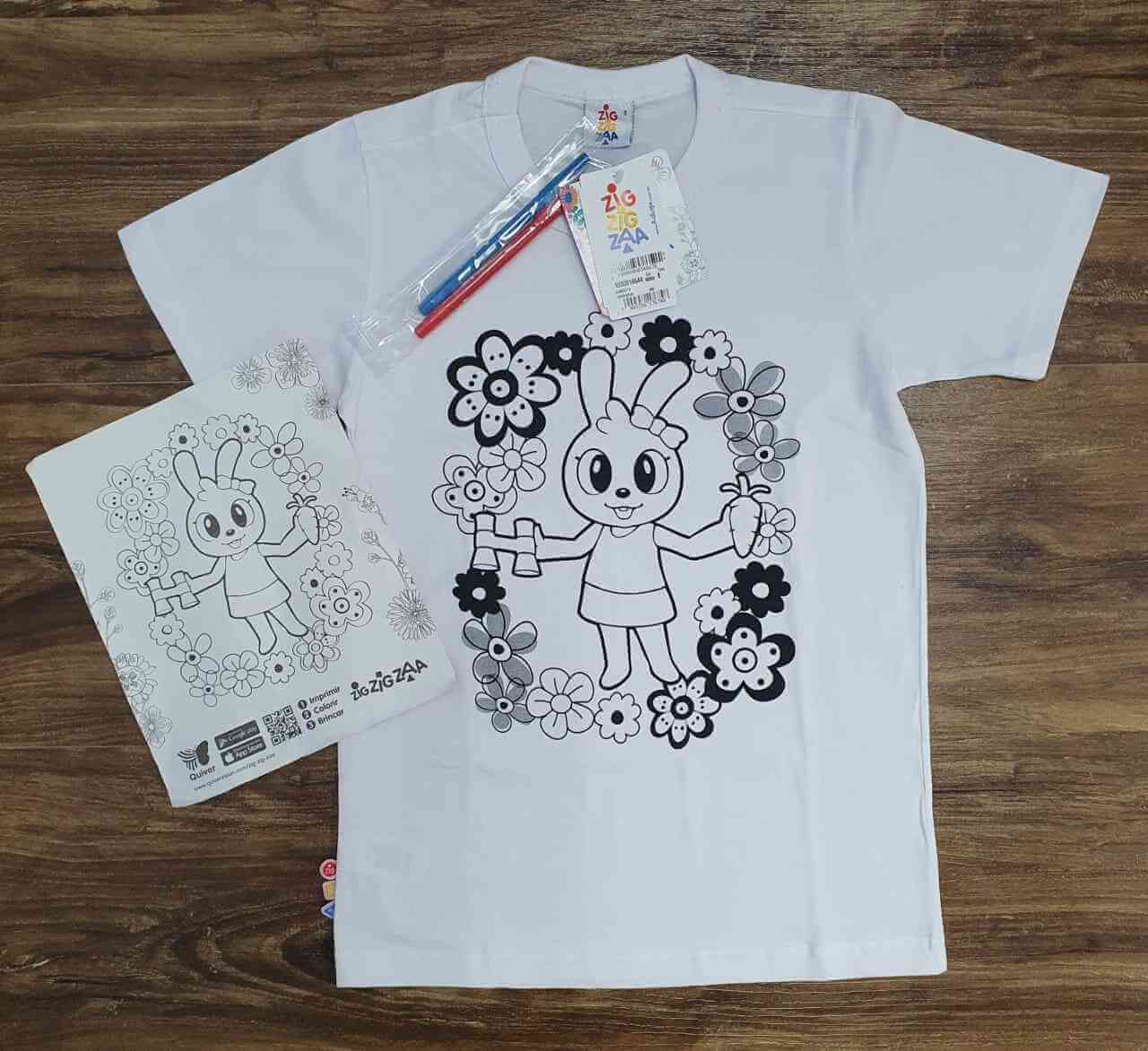 Camiseta Para Colorir Infantil