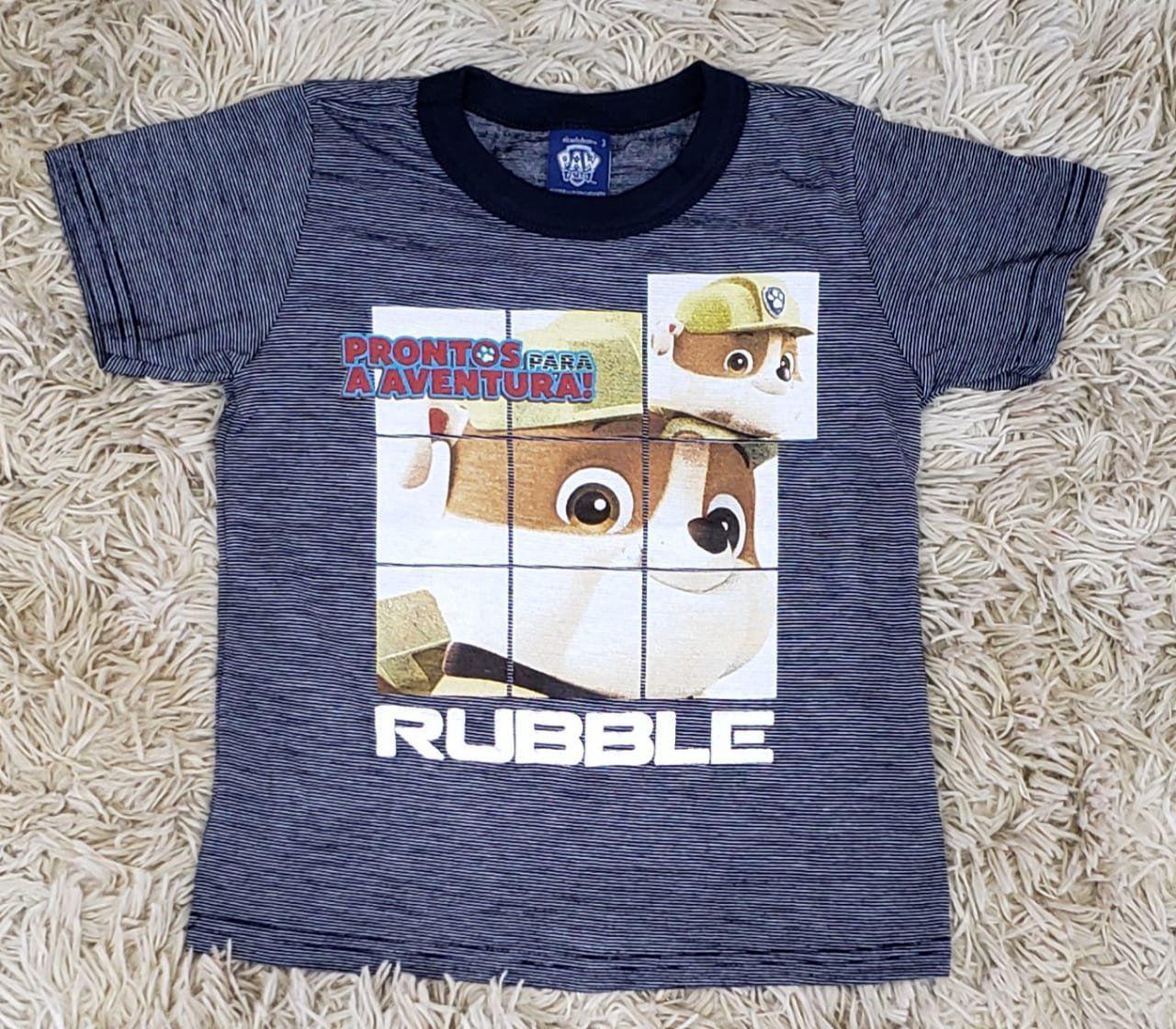 Camiseta Patrulha Canina Azul Marinho