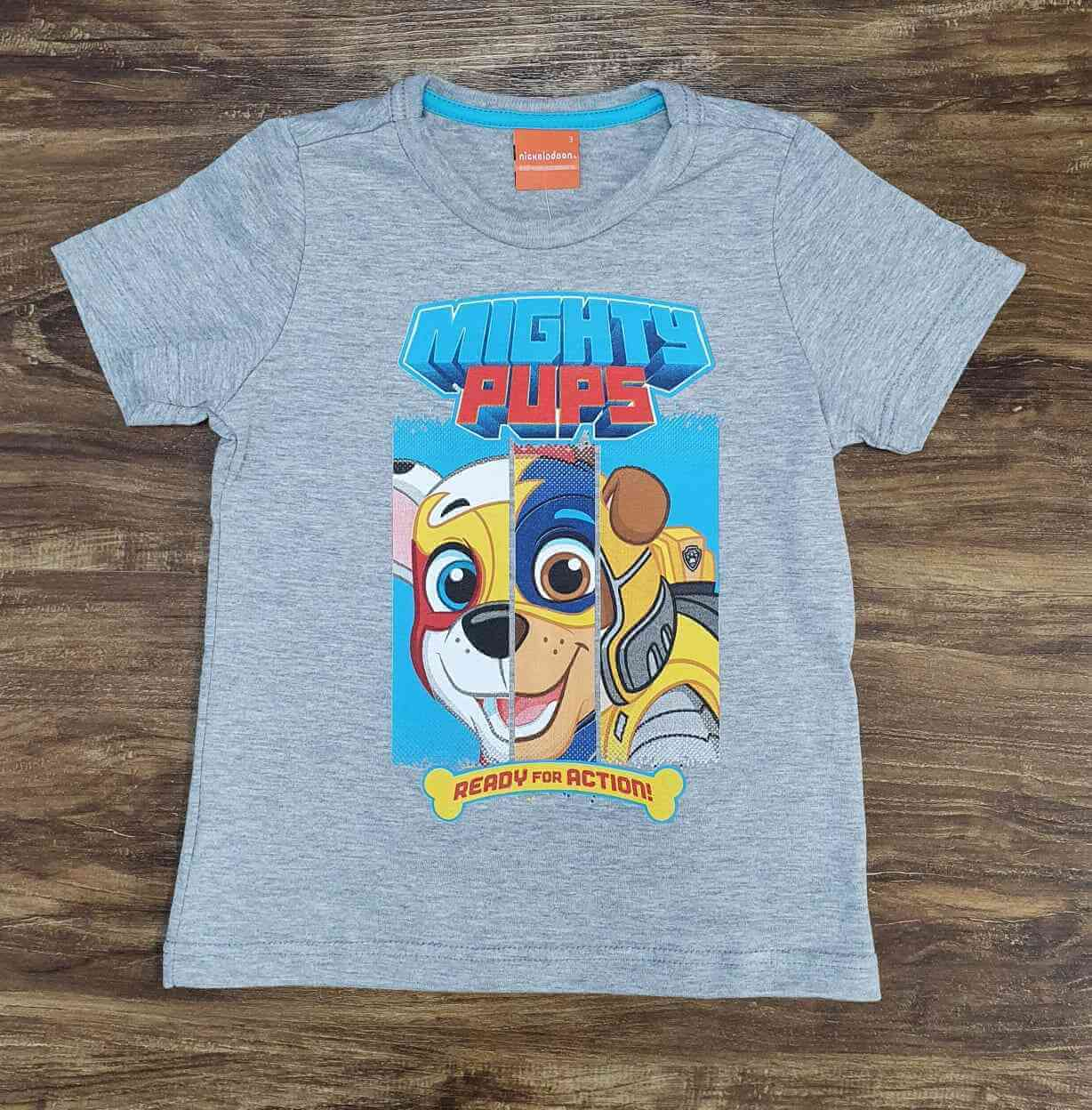 Camiseta Cinza Mights Patrulha Canina Infantil