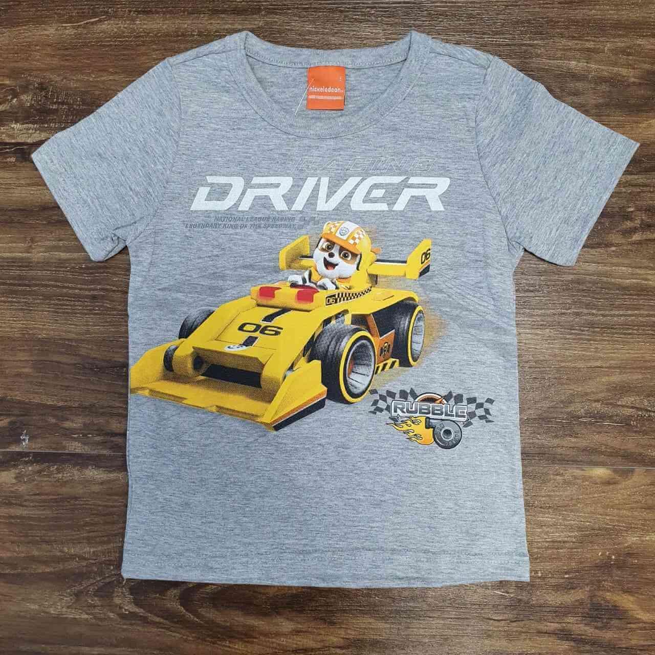 Camiseta Cinza Driver Patrulha Canina Infantil