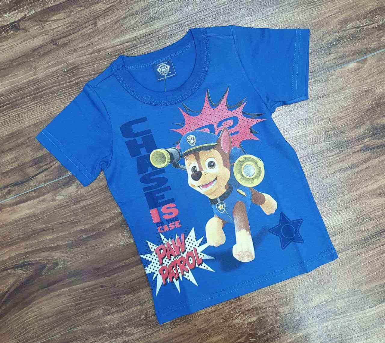 Camiseta Azul Case Patrulha Canina Infantil