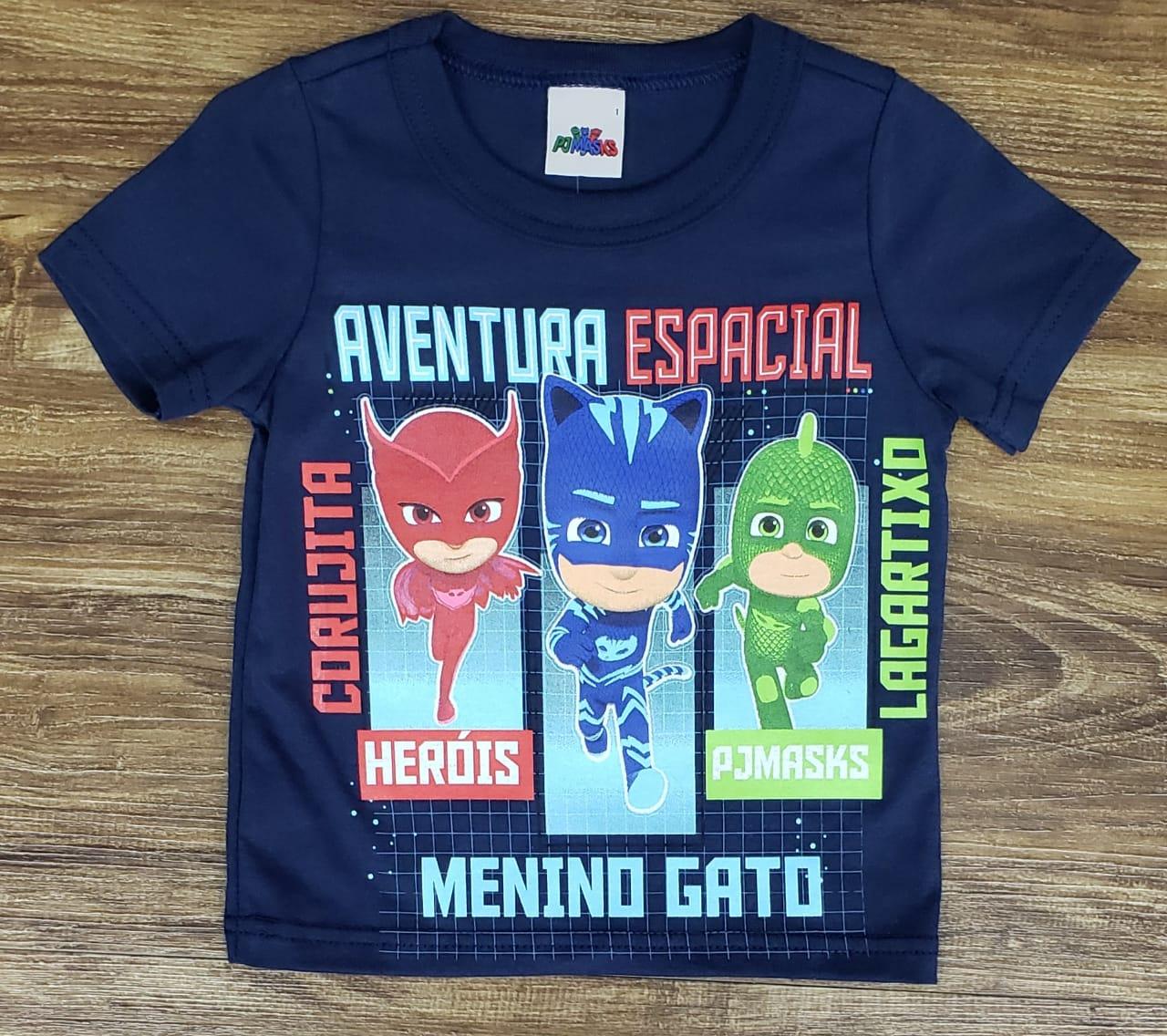 Camiseta PJ Masks Azul Marinho