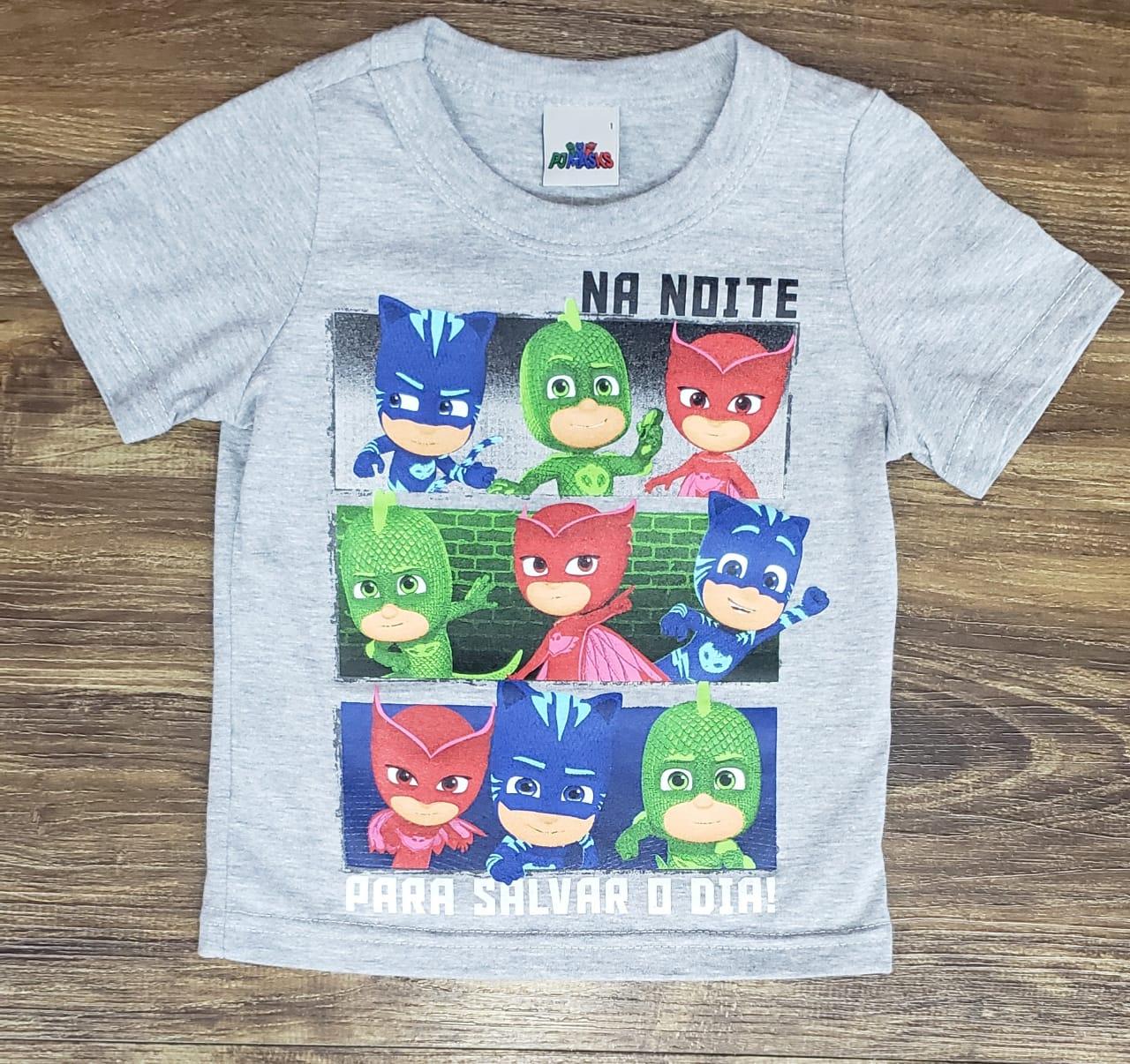Camiseta PJ Masks Cinza