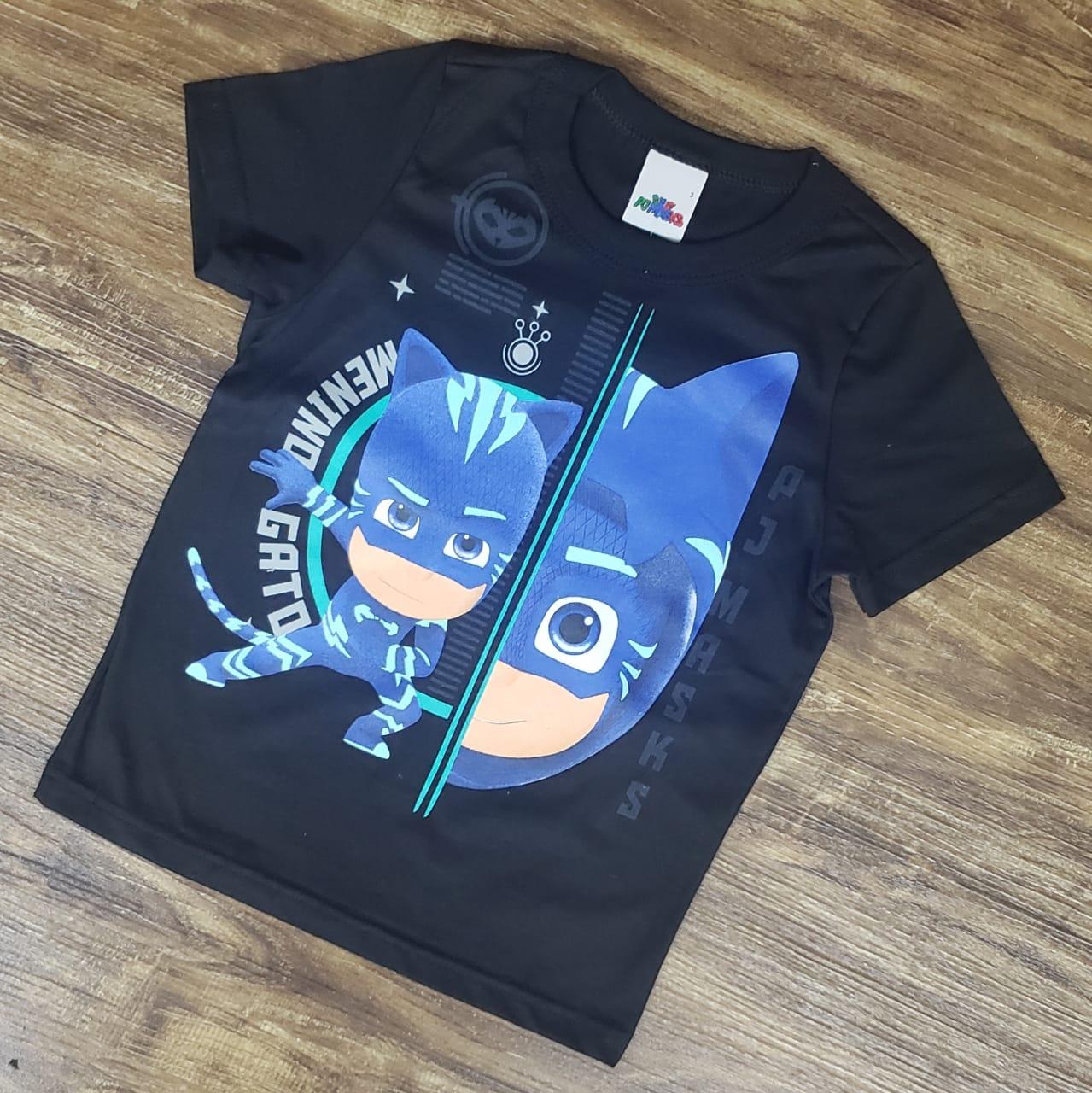 Camiseta PJ Masks Preta
