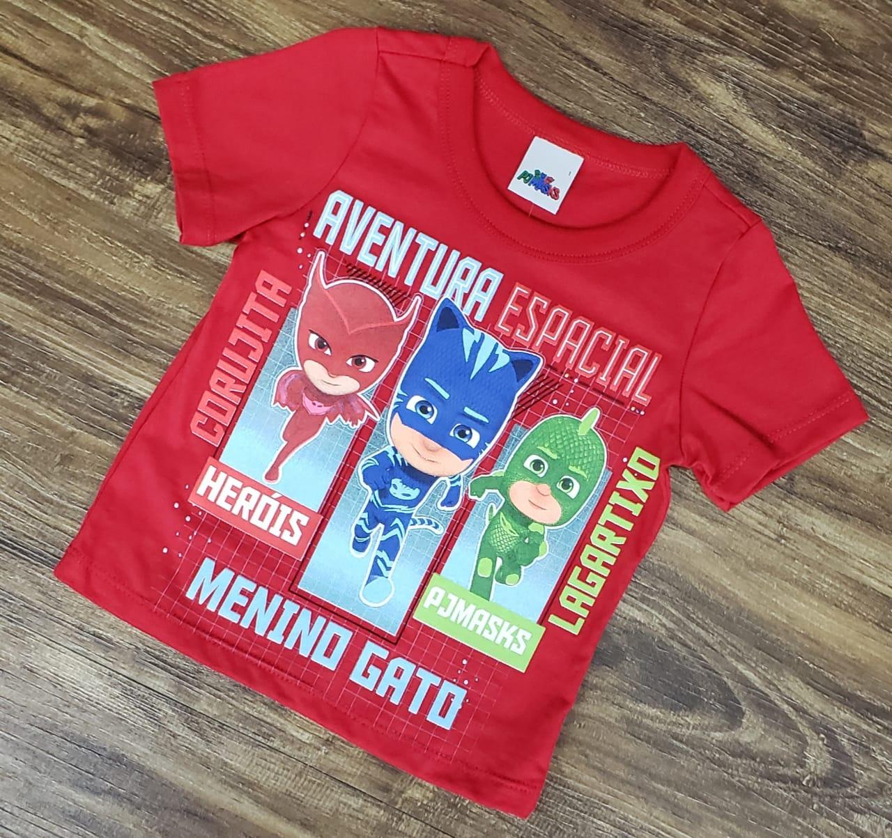 Camiseta PJ Masks Vermelha