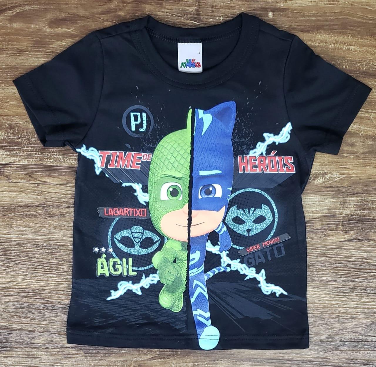 Camiseta Preta PJ Masks
