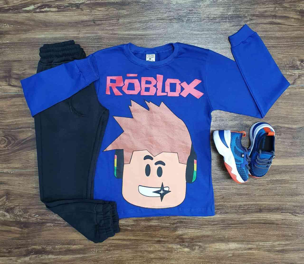Camiseta Rôblox Manga Longa com Calça Infantil