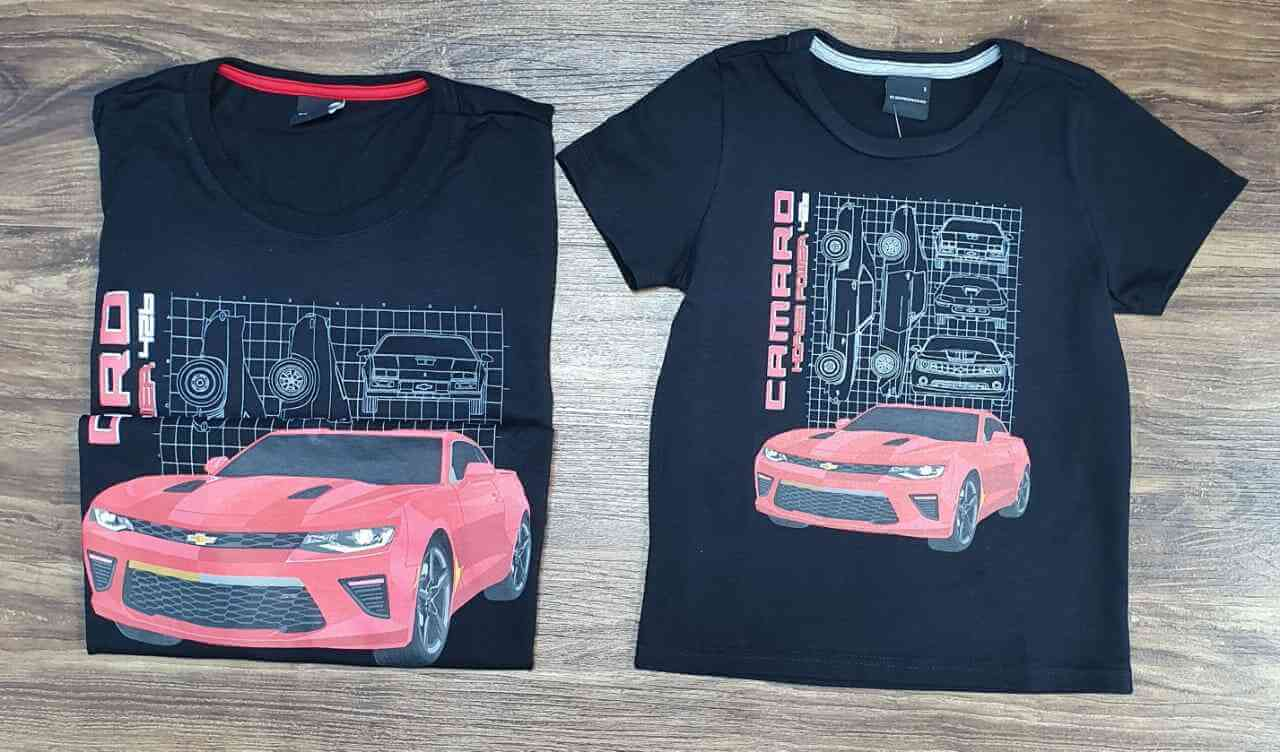 Camisetas Camaro Pai e Filho (a)