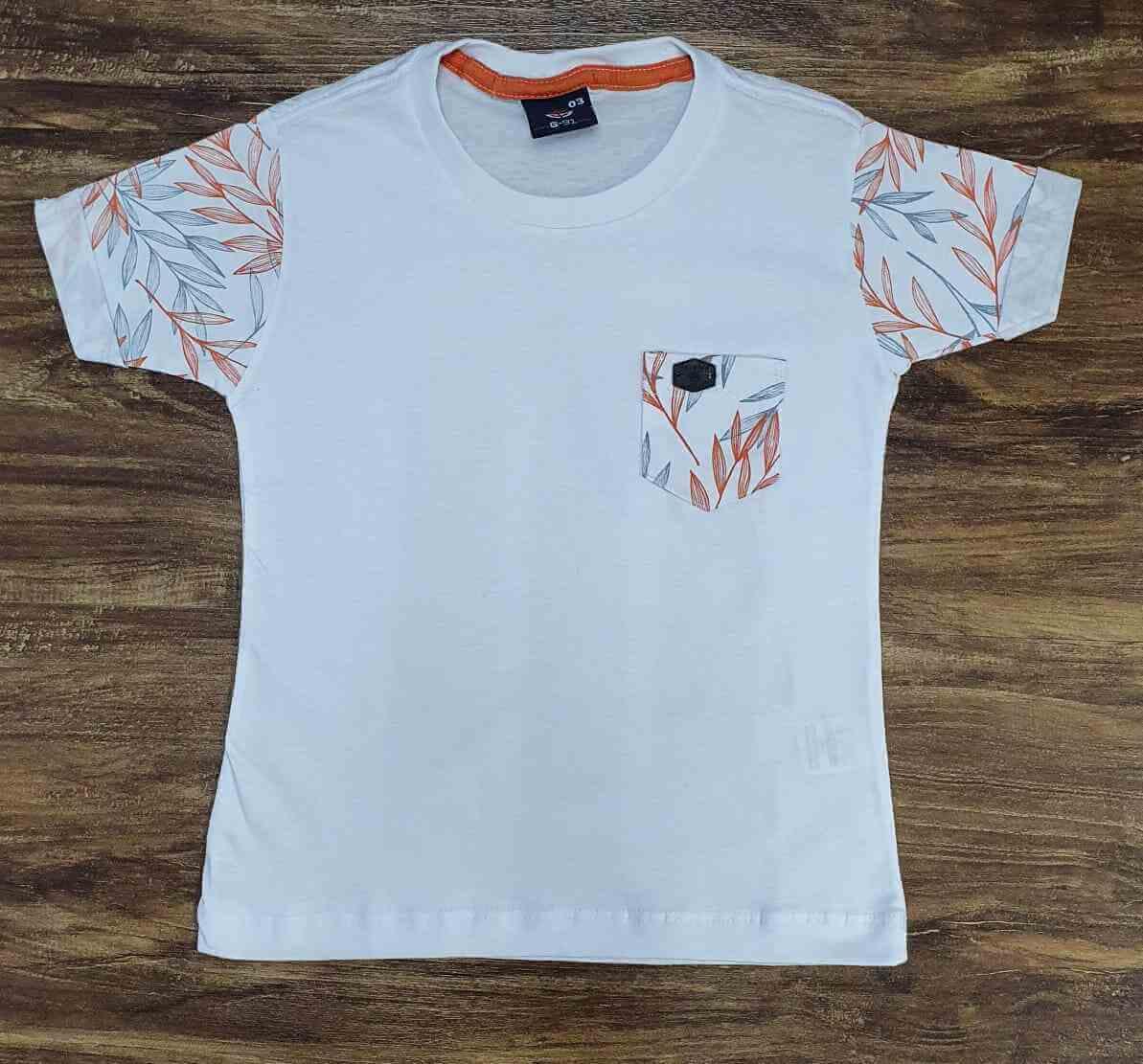 Camisetas Folhas Infantil