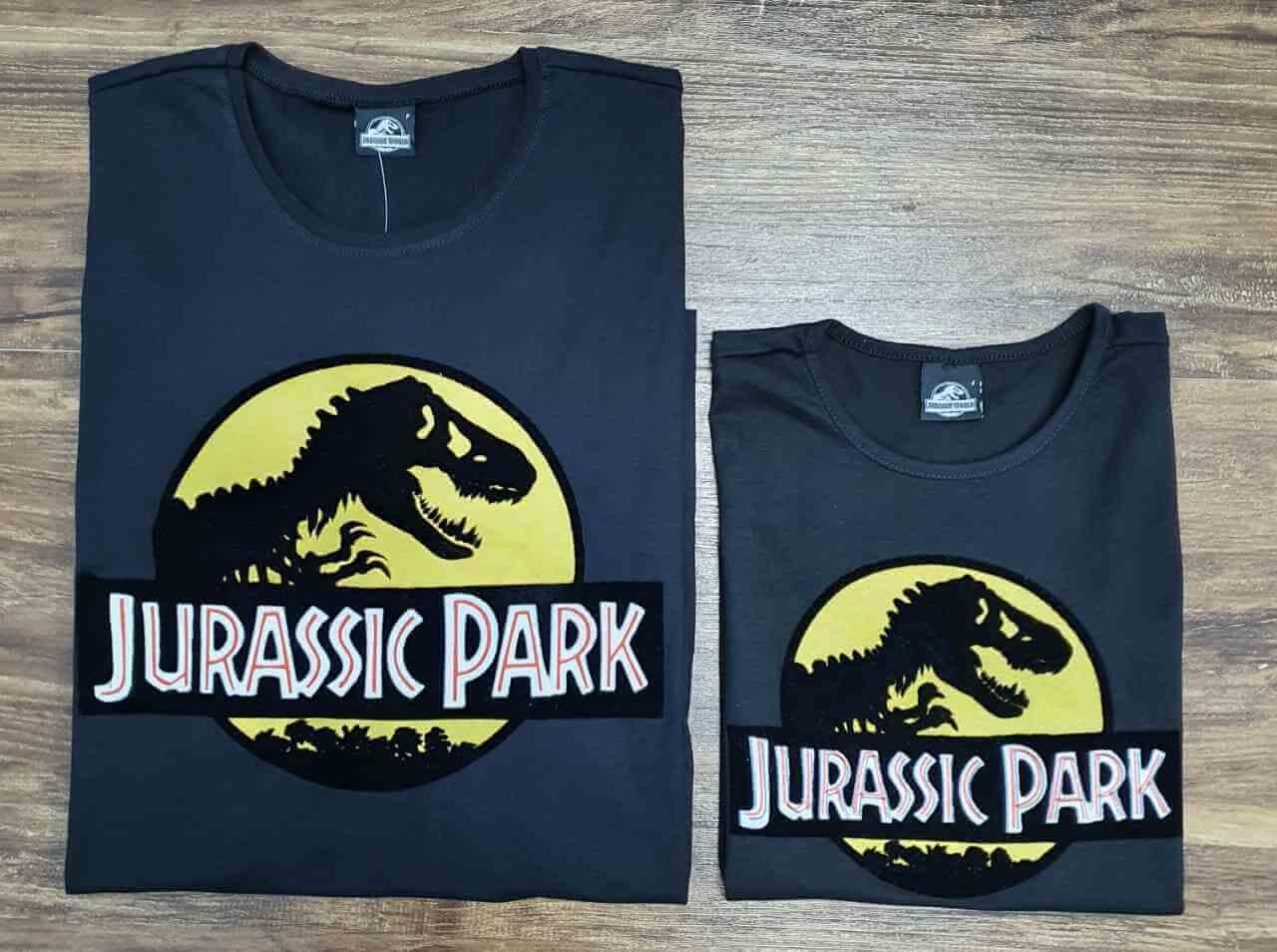 Camisetas Jurassic Park Pai e Filha